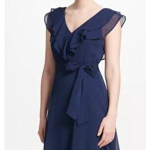 Dkny Dresses - NWT DKNY Ruffle  V-neck dress size 8